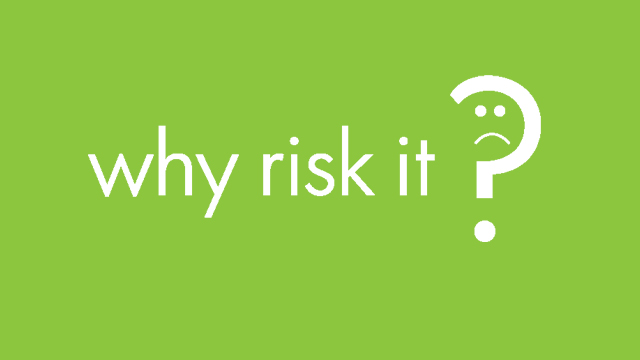 Why Risk It Campaign Logo |
