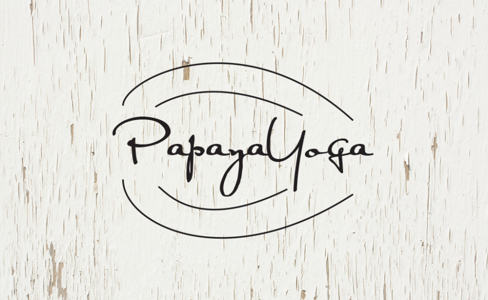 Papaya Yoga Logo Black