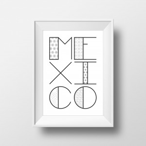 MEXICO-Typography